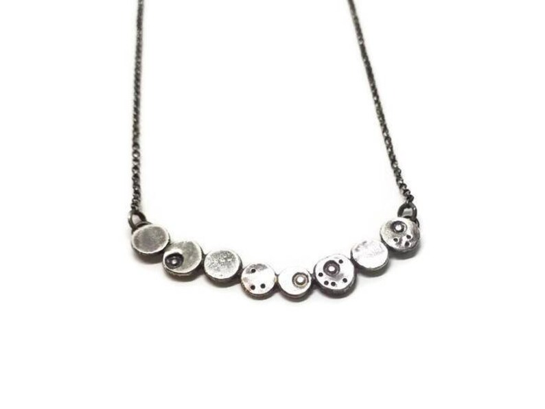 Textured pebble necklace