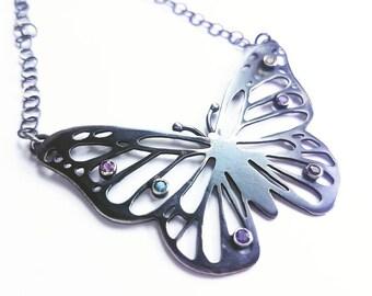 Hand Pierced Butterfly Pendant