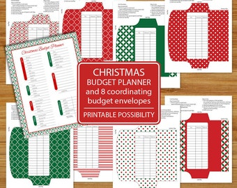 christmas budget planner holiday budget sheet budget etsy