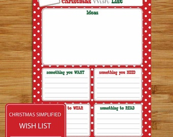 image about Want Need Wear Read Christmas Printable called Xmas Drive Record Present Designs Thoughts Storming Xmas Etsy