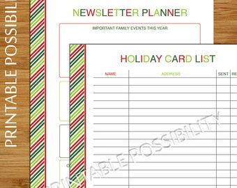 picture about Printable Christmas Card List referred to as Xmas card checklist Etsy