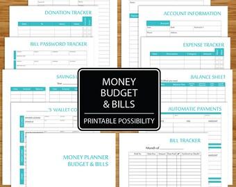 spending record printable spending tracker expense log etsy