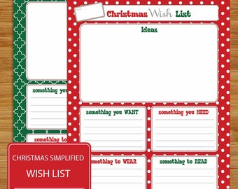 picture regarding Want Need Wear Read Christmas Printable called Require will need dress in study Etsy