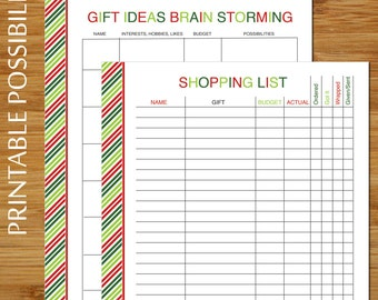simplified christmas wish list gift ideas brain storming etsy