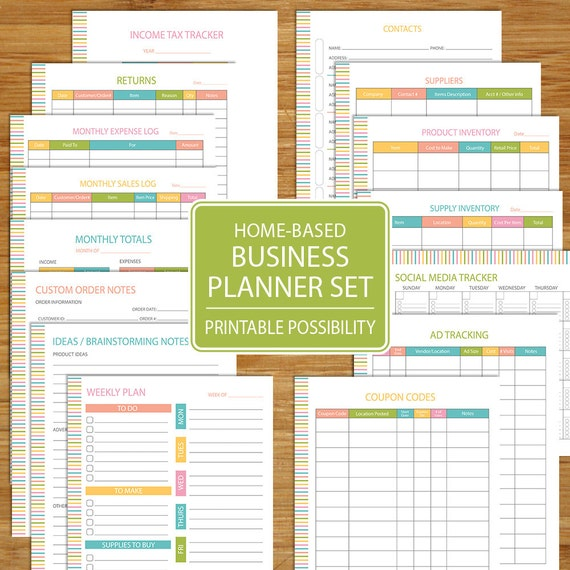 Small business planner home business planner etsy business for Home planner free