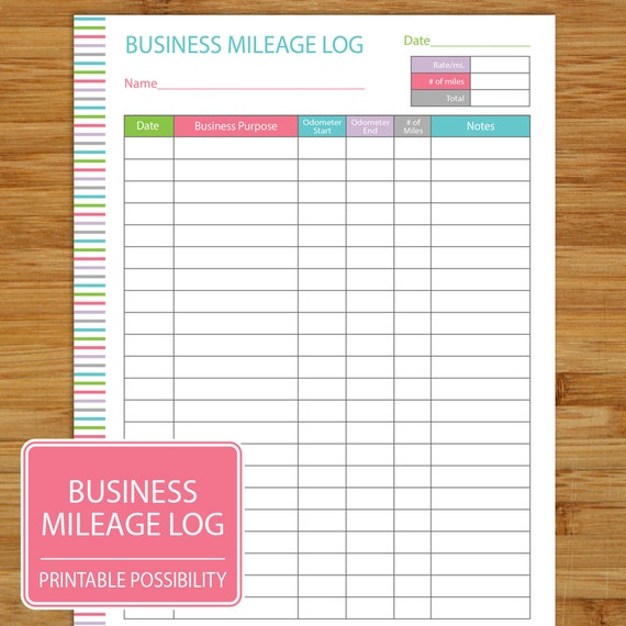 mileage log business mileage tracker auto mileage tracker etsy