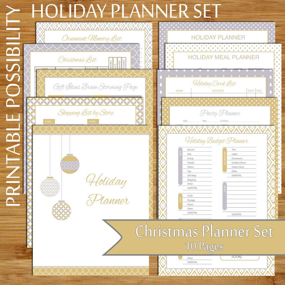 Holiday Planner Set 10-Page Printable Christmas Organizer | Etsy