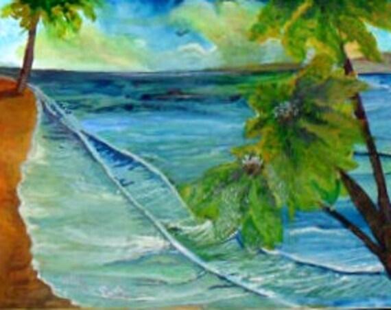 Beach wall art ,fine art prints, From My watercolor painting, ocean original art poster, coastal decor, nautical gifts, bathroom art # 58A