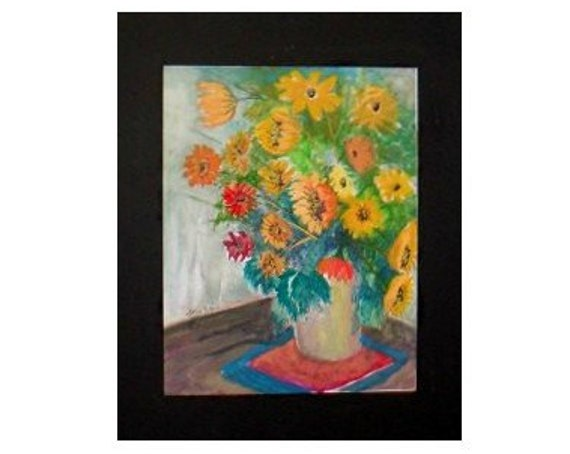 Mother's day gifts, yellow daisies, watercolor art prints, floral paintings, vase of flowers, watercolor painting, daisy wall art