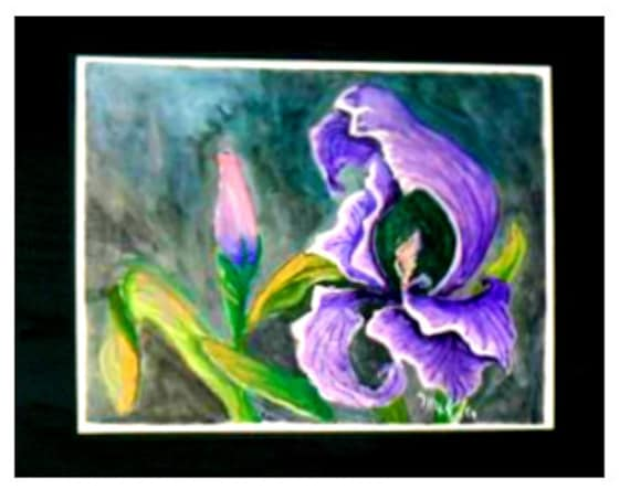 Paintings of flowers, purple iris, garden wall art, wall prints, modern wall art, watercolor prints, purple flower, gifts for her, wall art