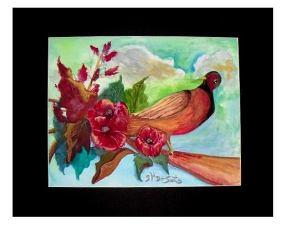 Bird art, wall prints,  wall art, modern wall art, floral painting, art poster, modern home decor, wall pictures, watercolor painting # 43