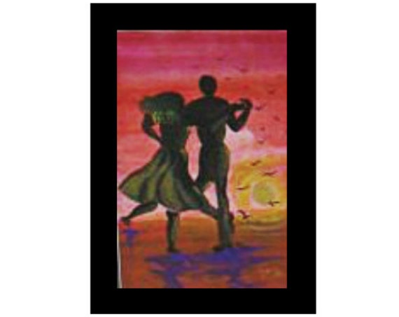 Dancer in sunset, watercolor print, tango dance, modern wall art, ballroom dancers, wall prints, abstract, wall pictures, home decor #67