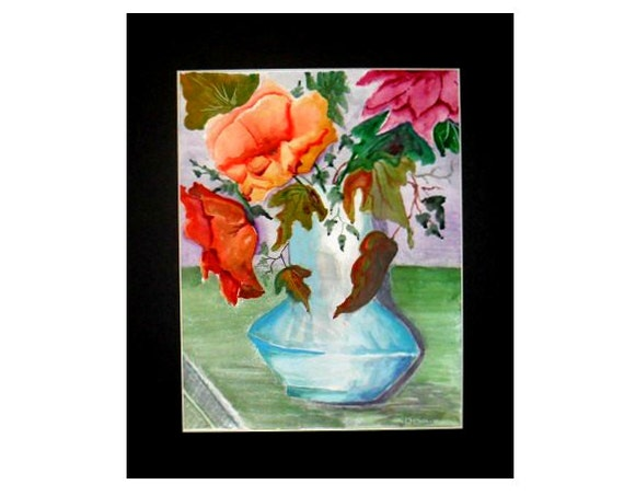 Girl friend gift, bouquet of flowers, cool posters, flowers in a vase, living room art, floral wall art, kitchen art, gifts for grandma #12