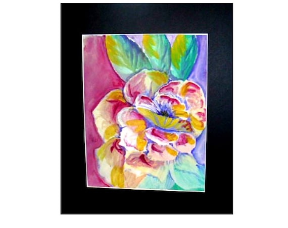 Modern art prints, purple flower, Mother's gift,, bathroom wall art, pink flower, boho room decor, still life art, watercolor painting #70