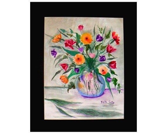 Mother's day gift, watercolor art, floral wall art, vase of flowers, watercolor art prints, wall posters, watercolor artwork, home decor,#40