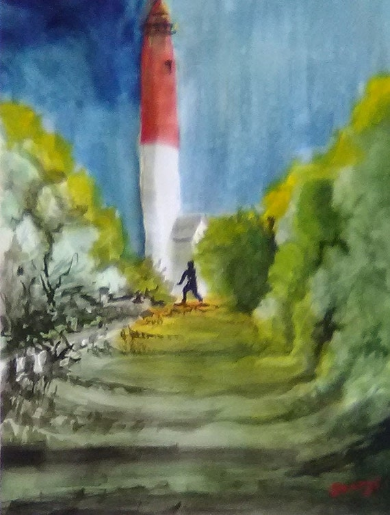 Barnegat Lighthouse, New Jersey Shore, Scenic lighthouse, wall art decore, home decoration, summer getaway,  Foliage Beach decor, gifts,#198