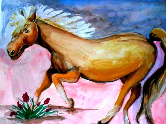 Modern wall art, wild horse, western home decor, nature art, poster, southwestern decor, horse print, watercolor painting, rustic art #59