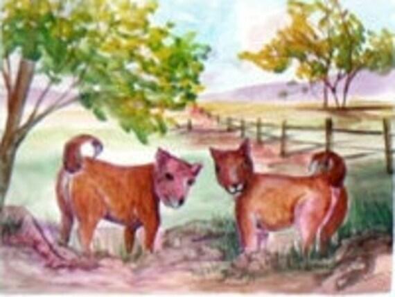 Dog wall art, watercolor art, rustic wall art, art decor, modern wall decor, puppie print, animal poster, living room art, home decor,#53