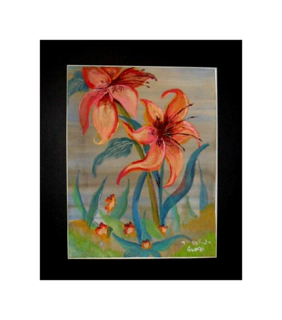 Mother's day gifts, tiger lillies, watercolor art prints, floral paintings, flower wall art, watercolor painting, home wall decor