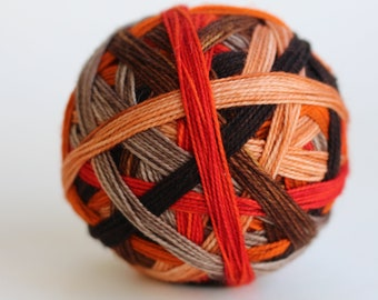 """Ready to Ship! Skein: """"Buzzkill (Texas Chainsaw Massacre Inspired 6 color self-striping)"""""""