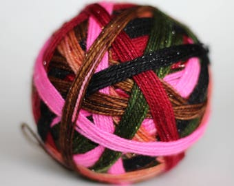 """Ready to Ship! Skein: """"Stay Sexy, Don't Get Murdered"""" -  Flesh w/ blood speckle, green, woodsy brown, hot pink, black, red"""