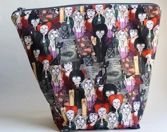 All Eyes on Salem Bucket Bag Knitting & Crochet Project/Toiletry Box Bag