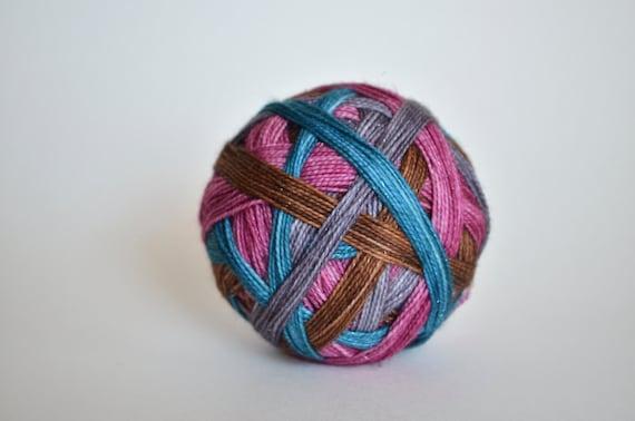 """Geverfd om: """"Hermelien (4 kleur zelf striping)"""" - blauw, grijs, bruin, Pinky paarse strepen"""