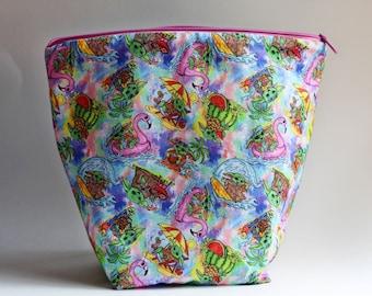 Sweet Summer Child Bucket Bag Knitting & Crochet Project/Toiletry Box Bag