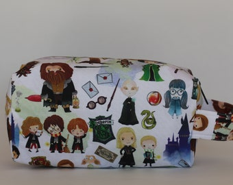 Hogwarts Cuties Medium Knitting & Crochet Project/Toiletry Box Bag