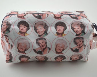Ready to Ship! Thank You for Being a Friend Medium Knitting & Crochet Project/Toiletry Box Bag