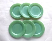 Set of Six Fire King Jadeite Diner Plates