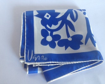 Awesome Vintage Vera Scarf in Periwinkle and White