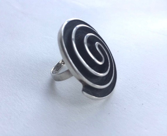 Amazing Sterling Silver Spiral  Ring