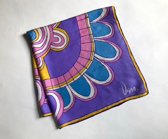 Big Bold Vera Abstract  Silk Scarf - image 10