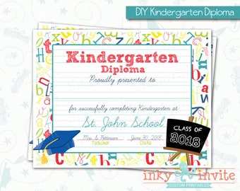 preschool graduation diplomas printable