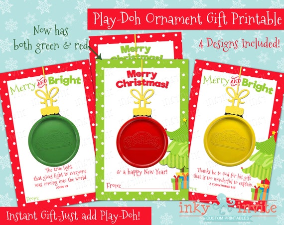 image 0 - Play-Doh Ornament Gift Card Class Christmas Gifts Small Etsy