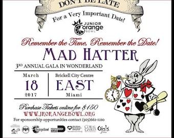 Mad Hatter Invitation- Digital Invitation Only