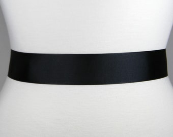 16bbcb36f20f Black Bridal Sash, Plain Grosgrain Wedding Belt, Bridal Belt, Grosgrain  Ribbon Wedding Dress Sash Belt, Plain Simple Bridal Sash Belt LAUREN