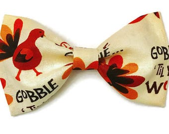 Turkey bow tie, thanksgiving bow tie, fall bow tie, kids bow tie, thanksgiving turkey bow tie, clip on bow tie, preppy toddler