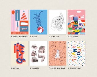 Postcards - Mix and match! - A6 Illustrated Cards