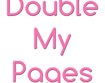 Double the Pages in One Book