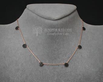 Choker, Necklace, Crystal Necklace, Womens Necklace, Rose Gold Necklace, Silver Necklace, monile, colar, Halskette,