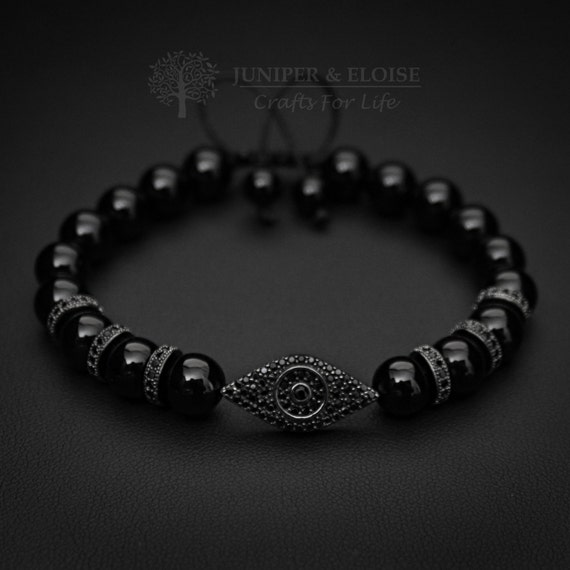 352cce4dc Christmas Gift Evil Eye Bracelet Mens Bracelet 925 Silver | Etsy