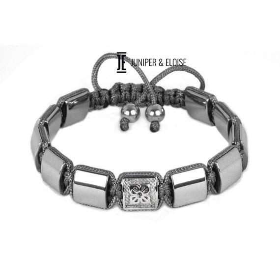 Jade Beads Onyx Beads Mens Bead Bracelet Gift For Men VESUVIO Beaded Bracelet Hematite Beads 8mm Beads Red Black