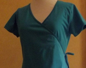 Very flattering wrap dress- made from Australian made combed cotton jersey & available in 18 colours!