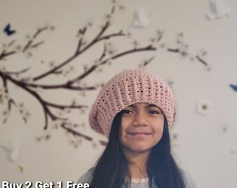 Crochet Slouchy Beanie Hat