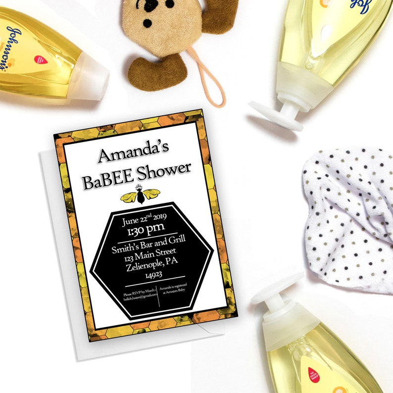 Mommy To Bee Baby Shower Invitation Bee Baby Shower Coed Etsy
