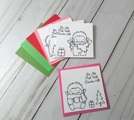Diy Christmas Tags Diy Gift Tags Christmas Gift Tags Holiday Gift Tags Make It Yourself Yeti Christmas Tags Gift Tag Kit Diy Tag Kit