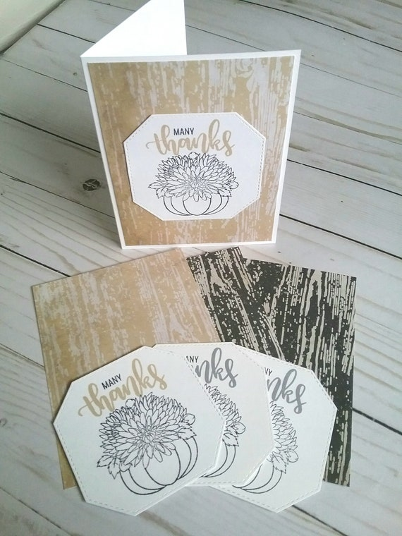 Diy Thank You Cards Make Your Own Cards Thank You Kit Card Etsy