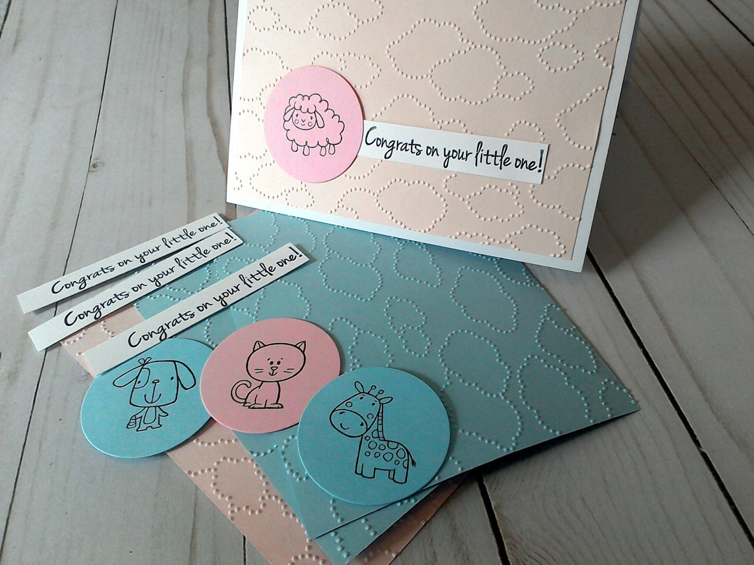 Diy Baby Card Kit Make Your Own Cards Baby Shower Cards Diy Etsy